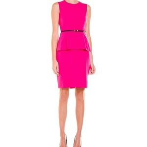 ‼️CALVIN KLIEN FUSHIA PINK BELT DRESS